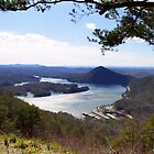 Lake Ocoee from Chilhowee Overlook by BluePhoenix