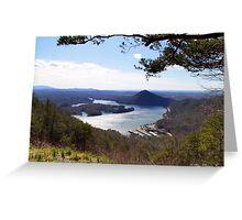 Lake Ocoee from Chilhowee Overlook Greeting Card