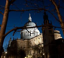 St Paul's Cathedral by twilight by Magdalena Warmuz-Dent
