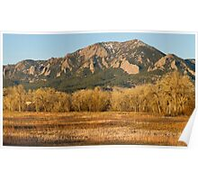 Flatirons Jay Rd View Boulder CO Poster
