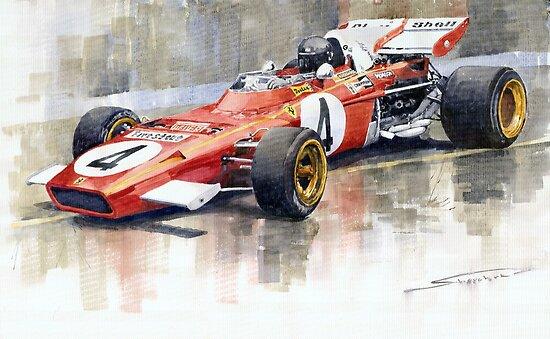 Ferrari 312 B2 1971 Monaco GP F1 Jacky Ickx by Yuriy Shevchuk