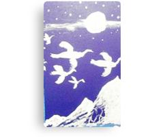Moonlight flight, watercolor Canvas Print