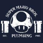 Super Mario Bros. Plumbing (Dark) by SaBLeSoLDi3R
