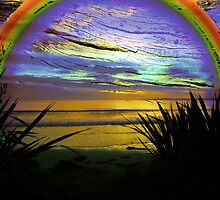 Rainbow Sunset by Karen Lewis