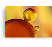 Abstract Oil Drops Canvas Print
