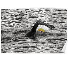Triathlon Swimmer Poster