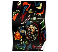 AGAMIC ABSTRACT Drawing Poster