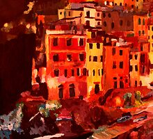 Magic Cinque Terre Night in Riomaggiore by artshop77