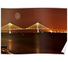 Charles Ravenal Jr.Bridge At Night Poster