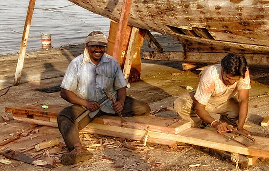 Qatar: Boat Repairers by Kasia-D