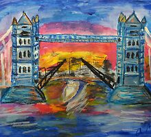 London's Tower Bridge by Alison Pearce