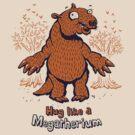 Hug like a Megatherium - megafauna t-shirt by Richard Morden