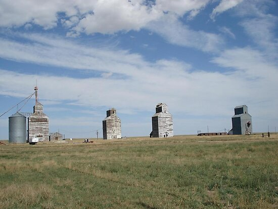 GRAIN ELEVATORS, RAPELGE, MT by May Lattanzio
