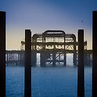Blackened Pier, West Pier, Brighton by Peta Thames