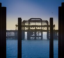 Blackened Pier, West Pier, Brighton by Silken Photography