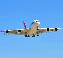 Airbus A380 landing at Adelaide by Geoffrey Higges