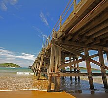 Coffs Jetty sun by SharronS