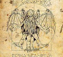 Cthulhu Vitruvian by John Ossoway
