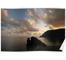 Silhouette Al Mare Poster