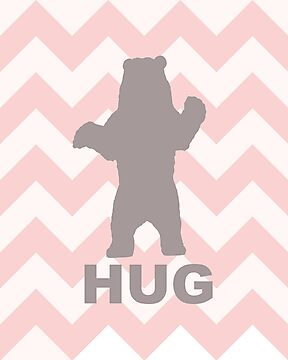 Bear Hug - Pink by Susan Tong