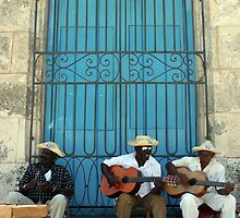 Havana musicians, the 'Los Mambises' band in Cuba. by Phil Bower