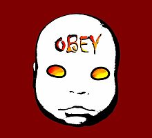 Obey the Creepy Doll iphone by Margaret Bryant
