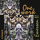 &quot;One work, Two Views&quot; Commemorative Poster by L. R. Emerson II from the Upside-Down Art Movement; Upsidedownism, Topsy Turvy Art, Ambigram Art, or Masg Art  by L R Emerson II