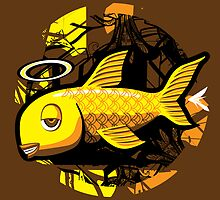 OG Fish - Abstract 4 Color by jhawkinsart