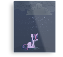 Rainy day pony Metal Print