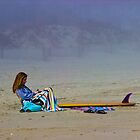 Girl with Surfboard by GalleryThree