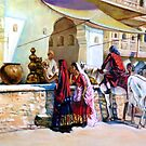 street market after Edwin Lord Weeks by Hidemi Tada