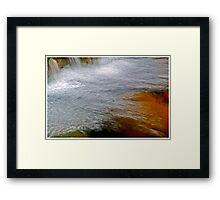 Go with the Flow Framed Print