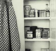 """Kitchen - Spice Cupboard - 1940's""   by waddleudo"