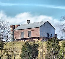 Barn On A Hill by James Brotherton