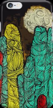 yarn stalagmites by crunchmouth