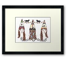 Tipi Party Framed Print