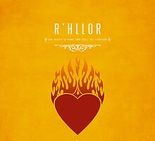 R'hllor iPhone Case by liquidsouldes