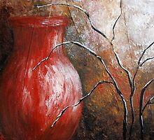 Red Vase by Josie Duff
