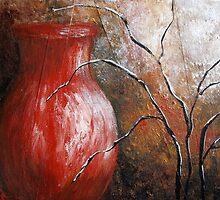 Red Vase by Josie Duff