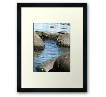 Rocky water run away Framed Print