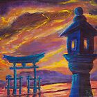 Lantern at Itsukushima  by Lester Ancheta