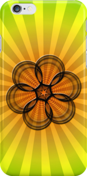Spirograph Sunburst (iPhone case) by Maria Dryfhout