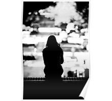 Smoker break in the city Poster