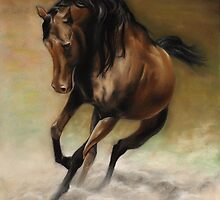 Arabian Pastel drawing by John Harding