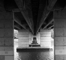 Paddleboarder Under The Bridge by Noel Elliot