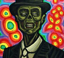 Dapper Zombie in a Bowler Hat by rawjawbone
