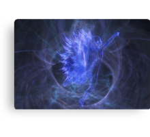 An Electric Fairy Fantasy in Blue Canvas Print