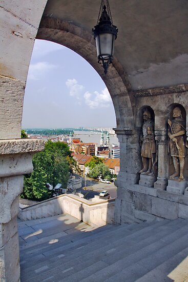 Fisherman's Bastion. On the Castle hill in Budapest. Hungary. Number 6 by Anatoly Lerner