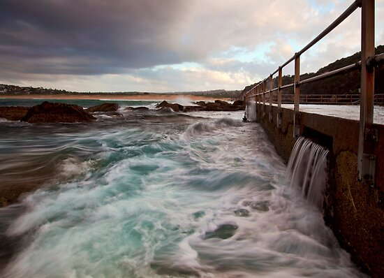 Swirls - North Curl Curl, NSW by Malcolm Katon
