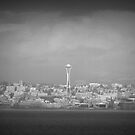 Seattle......In Grey... Space Needle from Wenachee Ferry by trueblvr